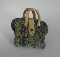 Blue Velvet Carpet Bag
