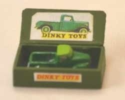 Green Truck in Wooden Box