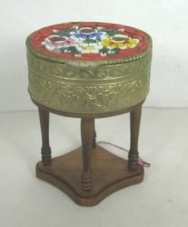 Sewing Table with Italian Mosaic Top