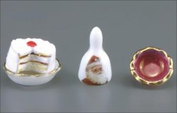 "1/2"" Scale Christmas Cake Accessory Set"