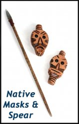 Tribal Masks and Spear