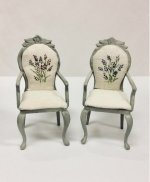 Lavender Armchairs, Pair