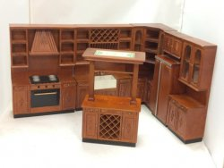 6-Piece Provincial Kitchen, Walnut Finish