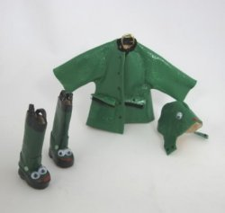 Child's Critter Rain Set, Green Frog