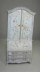 Handpainted Secretary, Pale Blue