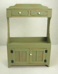 Yoke Dry Sink, Light Sage Green