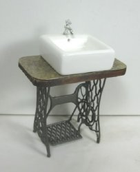 """Repurposed"" Sewing Machine Sink"