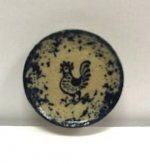 Stoneware Rooster Plate