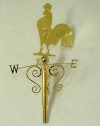 Brass Rooster Weather Vane