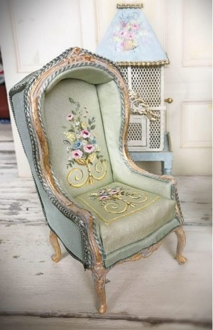 Hand Painted Canopy Chair or Balloon Chair