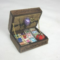 Sewing Box with Notions