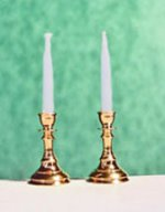 Clare-Bell Brass Candlesticks, Non-Working