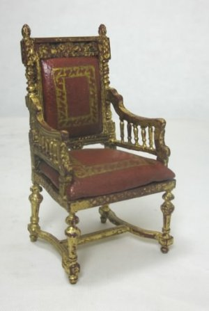 Baroque Gold Leaf Chair