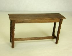 Half Inch Scale Hunt Table, Walnut