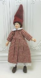 Gnome Woman In Checked Dress