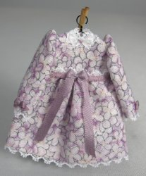 Toddler Dress, Lavender with Long Sleeves