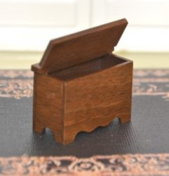 "1/2"" Scale Walnut Blanket Chest by MR Miniatures"
