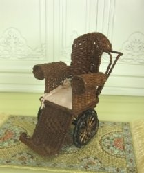 Wicker Baby Stroller by Tillie