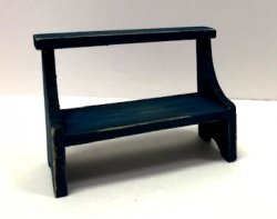 Rustic Crock Bench or Garden Bench, Blue