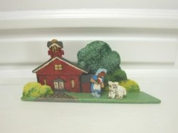 """Mary Had A Little Lamb"" Wooden Scene by Dee Moniz"