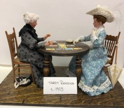 """Tarot Reading"" Dolls in Vignette"