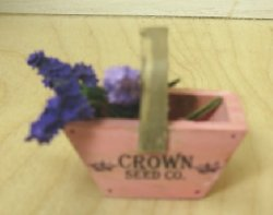 Pink Wooden Flower Trug with Lilacs