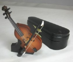 Wooden Cello with Bow, Stand and Case