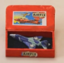 Blue Toy Airplane in Wooden Box