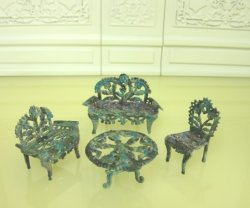 "1/2"" Scale Patio Set with Verdigris Finish"