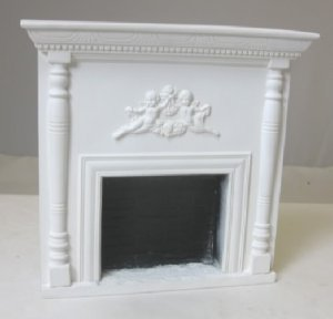 Classical White Fireplace