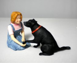 Jenny and Her Dog, Resin Figures