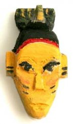 Carved Yellow Passport Mask from the Ivory Coast (replica)