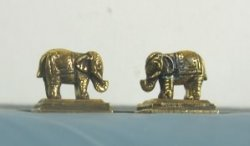 Antique Gold Elephant Bookends