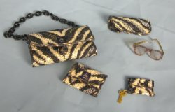 """Designer"" Handbag Set #2, 5 piece"