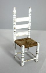 White Ladderback Chair