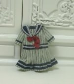 Tiny Blue Striped Sailor Dress