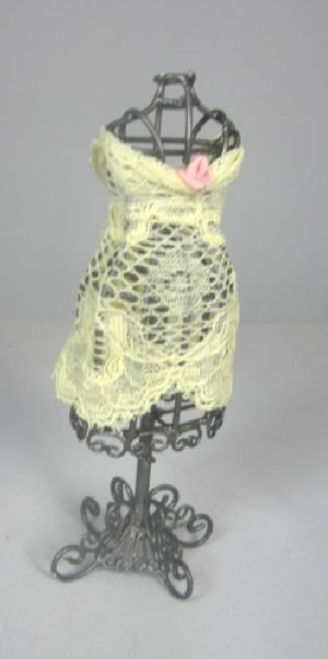 Antiqued Mannequin Dressed in Lace