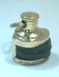 Brass Green Ship's Oil Lamp