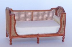 Fauna Caned Daybed, Walnut, by Maritza Moran for Bespaq