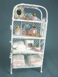 Bathroom Etagere, Filled