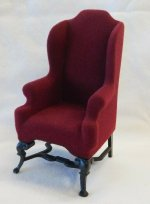 Dark Red Wing Chair, Goebel Butterfly Collection
