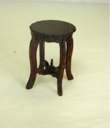 Half Inch Scale Plant Table, Short, Mahogany