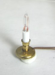 "1/2"" Scale Brass Candlestick, working"
