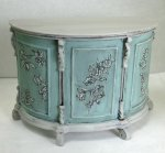 Painted Demilune Console Bar
