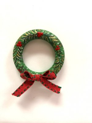 Folk Art Painted Christmas Wreath