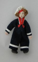 Tiny Sailor Doll