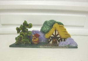 """Jack and the Beanstalk"" Wooden Scene by D. Moniz"