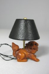 Carved Lion Lamp