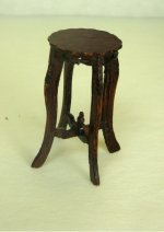 Half Inch Scale Plant Table, Tall, Mahogany