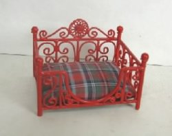 Red Plaid Pet Bed